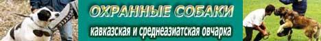 ОХРАННЫЕ СОБАКИ. Кавказская и Среднеазиатская овчарка